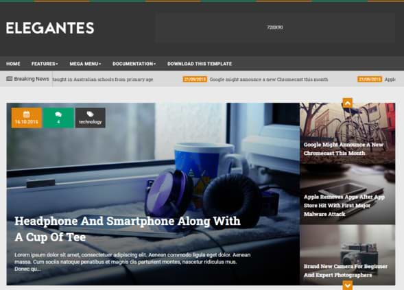 Elegantes Responsive Blogger Template Fashion Theme