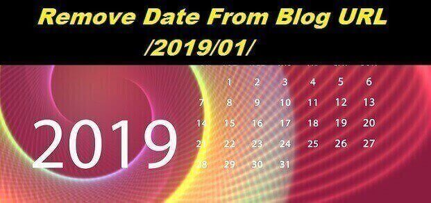 How to Remove Date From blogger Post url address Year and Month