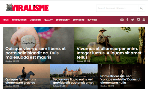 Viralisme Blogger Template 3.4 Mobile Responsive ads Ready Free download